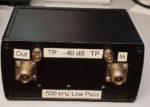 500 kHz laagdoorlaatfilter