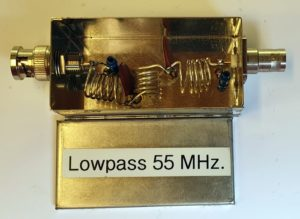 55MHz lowpass filter