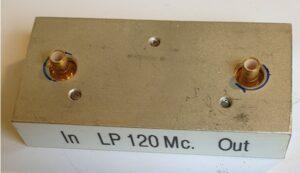 LowPassfilter 120 MHz