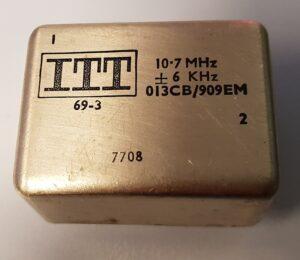x-talfilter ITT 10,7 MHz/6kHz